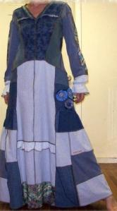 Poor girls blue dress