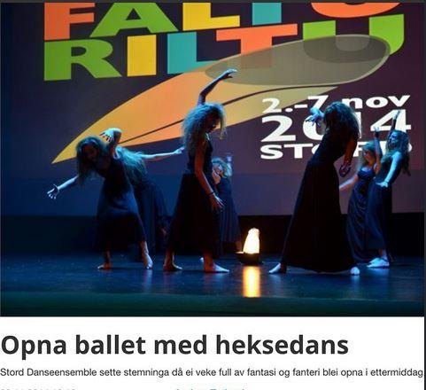 Stord kulturskules danseensemble, skejrmdump frå sunnhordland.no
